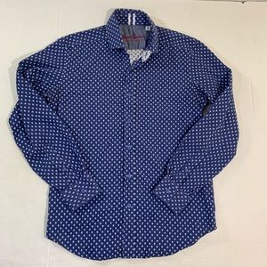 Robert Graham Skull Button Front Shirt S